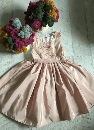 Нарядное праздничное пышное платье 7-8 лет