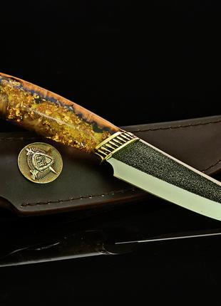 """Нож ручной работы """"Золотая лихорадка"""" сталь N690"""
