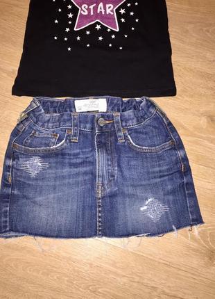 Джинсовая юбка с потертостями logg by h&m