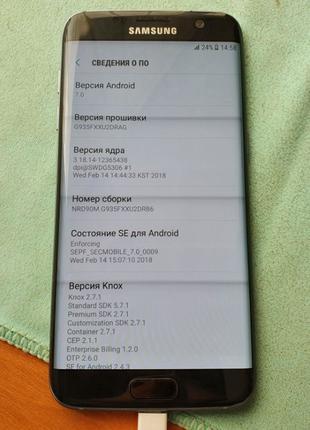 Samsung G935F Galaxy S7 Edge 32GB Black ОДНА СИМ