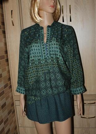 Красивая штапельная блузка,туника  bershka