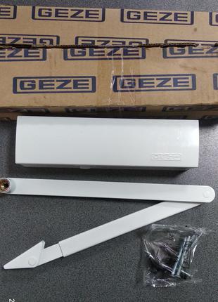 Дверной доводчик Geze Гезе TS 2000 V коленная тяга белый RAL 9016