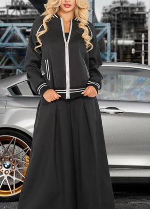 🔥новинка🔥модный костюм спортивная кофта и брюки палаццо 46-48