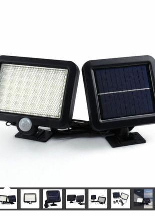 56 світлодіодів Датчик руху PIR на сонячній енергії Енергозберіга