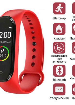 Фитнес-браслет M4, red