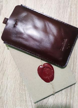 Чехол-карман,кожа,ручная работа, эксклюзив