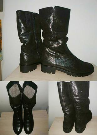 Зимние полусапожки 41-42 р кожаные ботинки