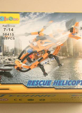 Детский конструктор вертолет, Техникс, Лего качество, новый.