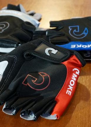 Перчатки велосипедные с гелевыми вставками Moke, велоперчатки
