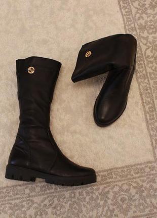 Зимние кожаные сапоги, сапожки 37 размера