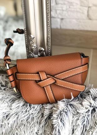 Коричневая сумка на плечо клатч