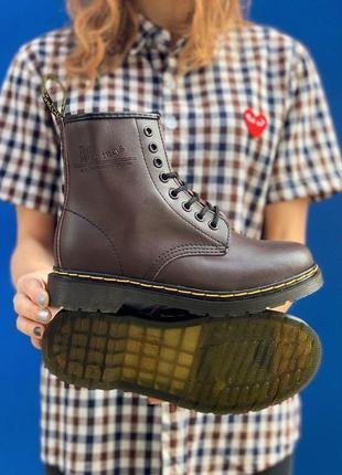 Кожаные ботинки dr. martens 1460 brown шкіряні черевики натура...