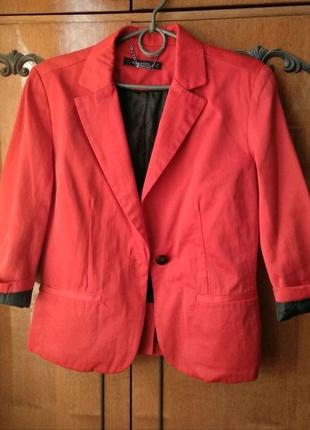 НОВЫЙ красный жакет женский пиджак брендовый модный подарок