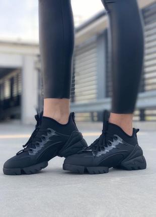 Женские крутые чёрные кроссовки black. демисезонные, осенние