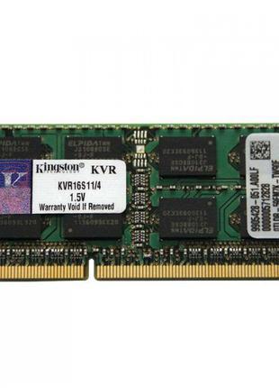 Kingston 4Gb SO-DIMM DDR3 1600MHz 4096MB PC3-12800 (KVR16S11/4)