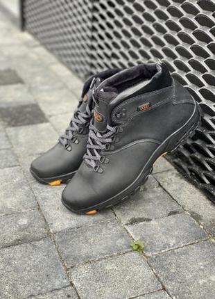Акция: мужские ботинки кожаные зимние черные storm rz- w