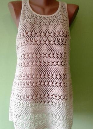 Красивая ажурная блуза майка next 10,12 размер