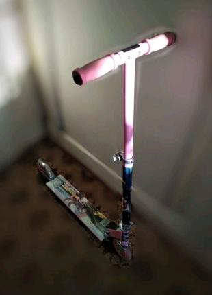 САМОКАТ детский подростковый розовый для девочки или для мальчика