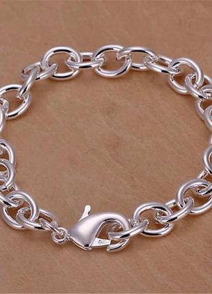 🍁🍂🍁 крутой серебряный браслет