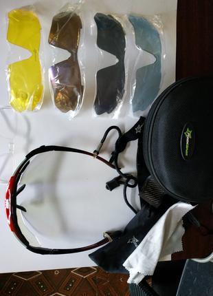 Очки велосипедные Rockbros со сменными линзами 5 шт. велоочки пол