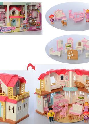 Кукольный домик раскладной с мебелью 16838