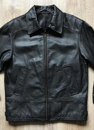 Мужская кожаная классическая куртка fc basel