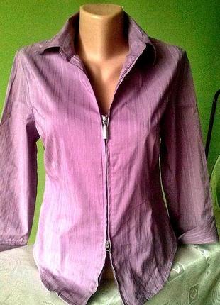 Блуза рубашка на молнии kombiworld