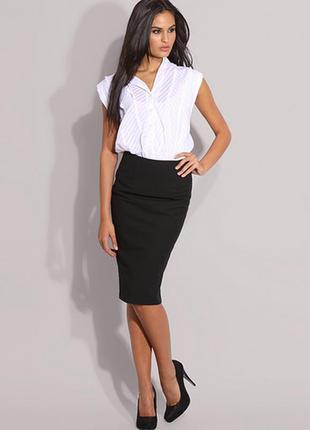 Шикарная черная юбка карандаш