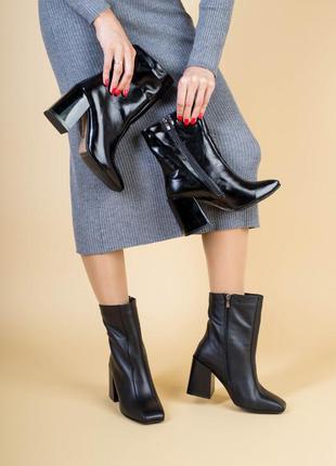 Женские ботинки ина удобном каблуке