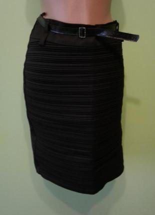 Черная юбка карандаш 12 размер