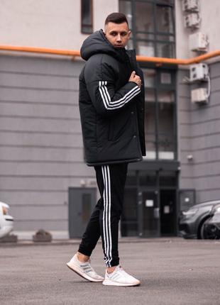 Новая Коллекция, Зимняя куртка Adidas  черная, Мужская куртка