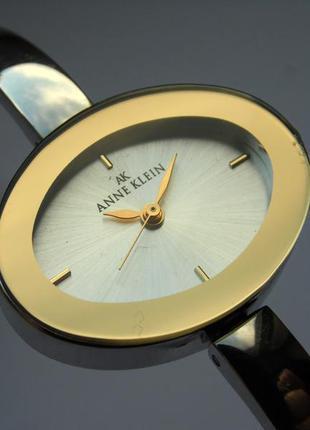 Anne klein 10/8035 часы из сша зеркальный ободок мех. japan epson