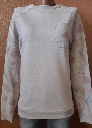 Свитшот с накладным карманом цветочный принт размер xs/s asos