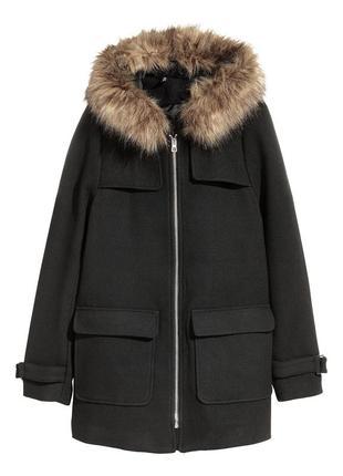 Шикарное пальто с шерстью h&m