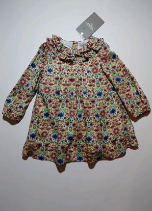 Нарядное платье Mayoral (Испания).  Размер - 12 мес., 80 см.