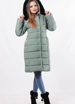 Зимняя женская куртка с капюшоном .куртка зимняя с опушкой