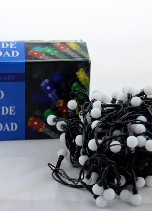 Светодиодная LED гирлянда Xmas 100 WW-6-2 маленький шарик тёплый