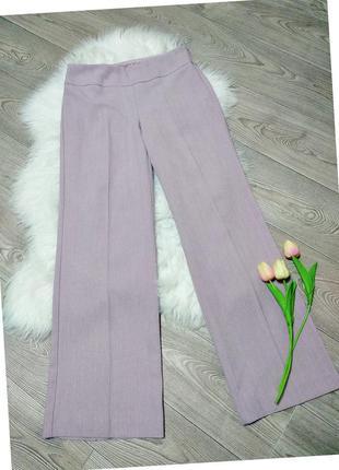 Женские широкие классические брюки штаны деловые клеш от бедра