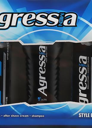 Набор Agressia Sensitive (крем для бритья+крем после бритья+шампу