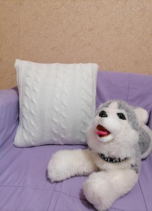 Подушка для интерьера, вязанная подушка
