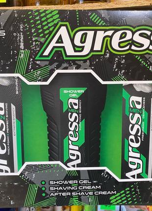 Набор Agressia Fresh (крем для бритья+крем после бритья+шампунь)