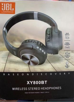 Беспроводные Bluetooth Наушники Jbl, блютуз, FM, micro sd, aux, m