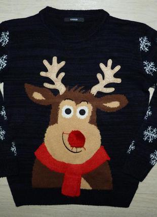 Новогодний свитер george 10-11 лет