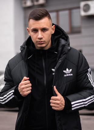 Зимняя куртка adidas streetz черная