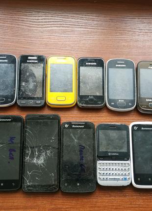 Смартфоны разные 15шт на запчасти, восстановление