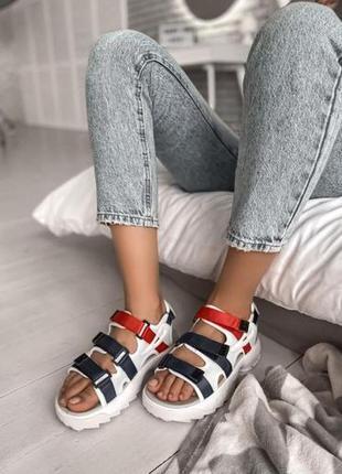 Женские летние босоножки fila sandal colors ◈ сандалии белого ...
