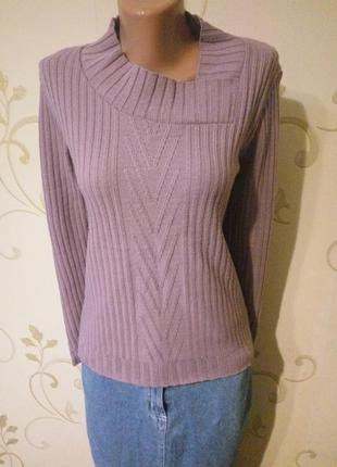 Интересный оригинальный свитер джемпер.