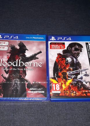 Bloodborne Game of the Year Edition Metal Gear Solid 5 V PS4