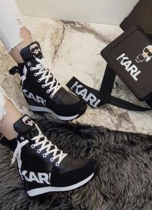 Новые женские кроссовки karl lagerfeld.