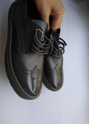 40 geox туфли лоаферы оксфорды лоафери оксфорди туфлі модные т...